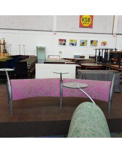 Montis Baku hocker leunbank hout/roze stof