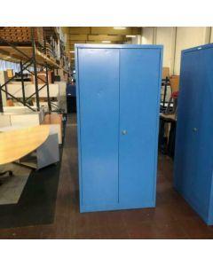 Draaideurkast / garderobekast blauw 195x95x60 cm met digitale kluis