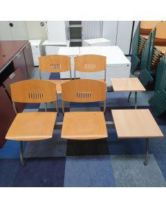 Wachtkamer bank 2-zits + tafel, hout
