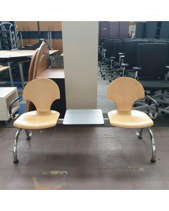 Ontvangst-wachtkamerset, voor 2 pers+tafel