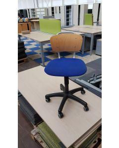 Bureaustoel houten kinder bureaustoel EROMES blauw