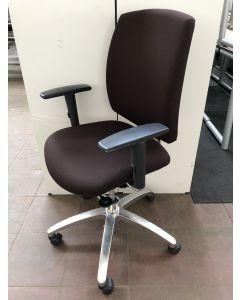 Bureaustoel Drabert Entrada bruin/RVS