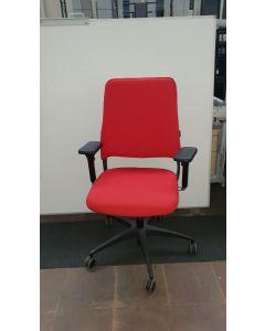 Bureaustoel Drabert nieuwe stoffering rood
