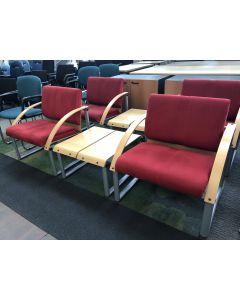 Complete set 2x fauteuil + tafeltje van, Albert Stoll Giroflex