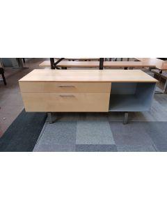 Dressoir 180x70 cm Ahorn/RVS