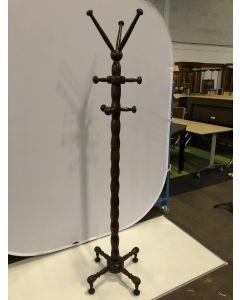 Sierlijk staande houten kapstok bruin hoogte 190 cm