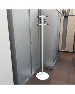Vrijstaande kapstok wit, 8 ophangpunten, 171 cm