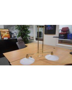 T-Hanglamp 2 kappen v glasschaal