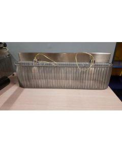 Hanglamp Besselink zilveren stof 100 cm breed