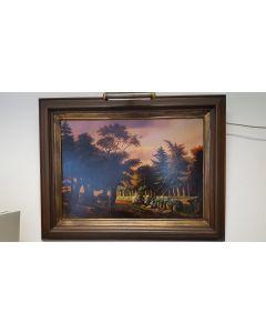 Schilderij J. Brocken landschap