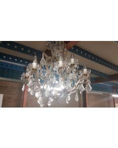 Kristallen kroonluchter 12 armen 78x55 cm