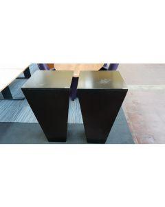 Zuil, Zwart 101x52x52 cm