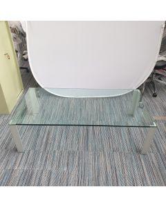 Lourens Fisher Glazen salon tafel glas/aluminium