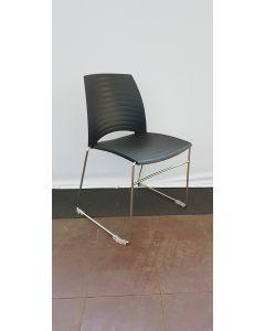 Vandersluis Braz zwart kunststof stoel/draadframe