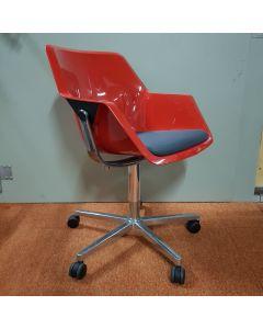 Design bureaustoel Viasit Re-pend  Rood